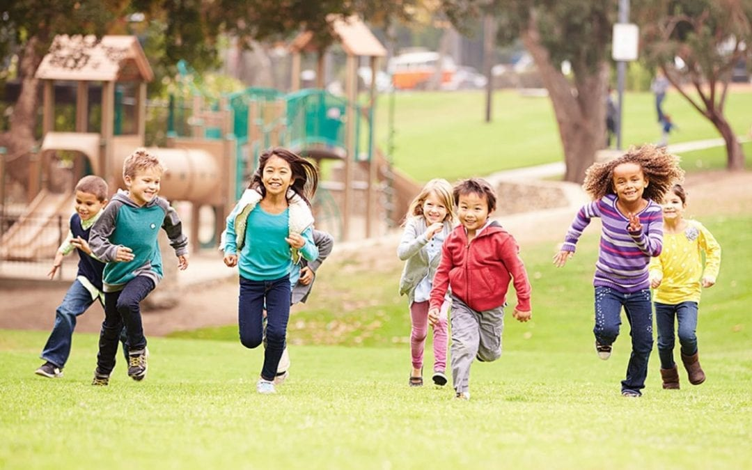 Kids benefit from 3 hours of outdoor play