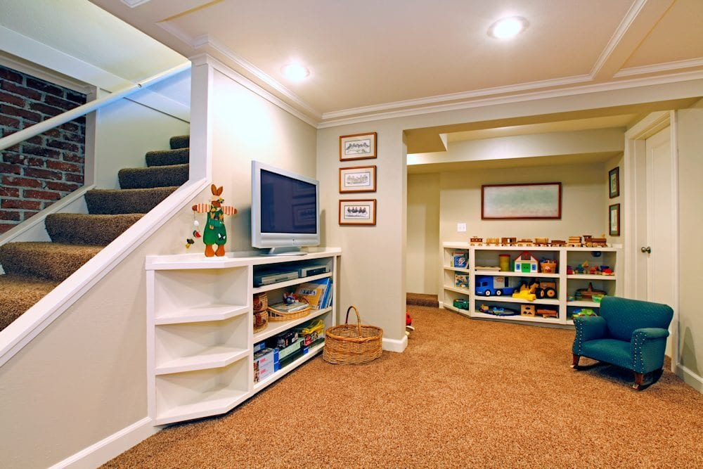 basement family room dupage home services 1000