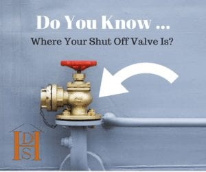 do you know where your shut off valve is FB