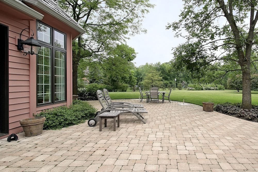 brick patio with furniture 1000