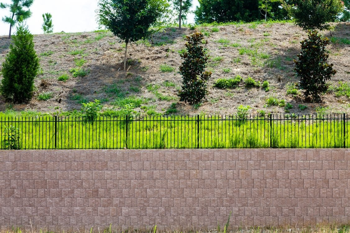retaining wall on hillside aztech landscape 1012