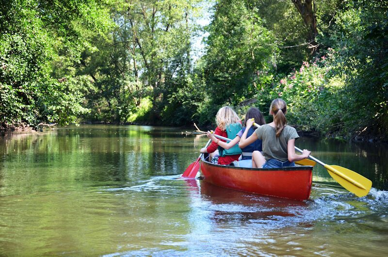 Family Canoe and Camping